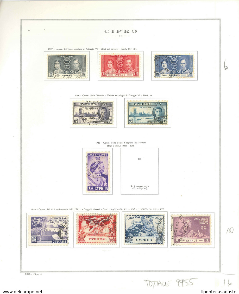 MH & Used] CYPRUS 1880/1942 | Two Collections Of The Period On Album Pages. To Be Inspected | Provenance: | The Romano P - Cipro (...-1960)