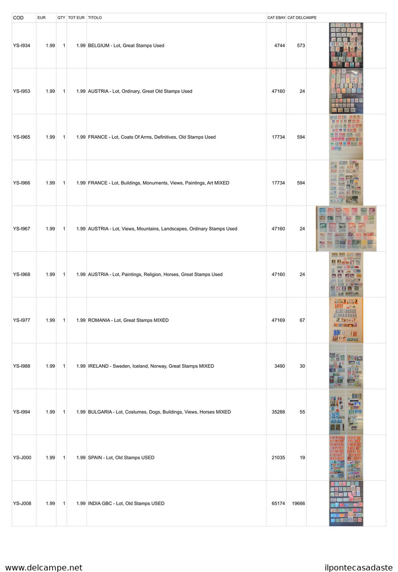 Covers] MONDIALI 1880/2000   Lotto Di Ex-inserzioni Per La Vendita Online, Formato Da Buste E Cartoline. Da Esaminare    - Collezioni (senza Album)