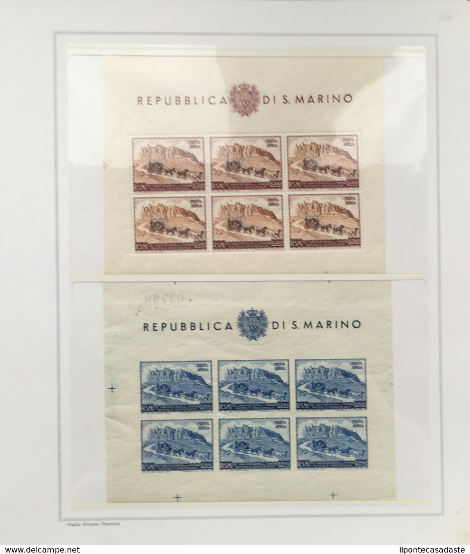 MNH] SAN MARINO 1877/1969   Collezione Avanzata Del Periodo, Con Posta Aerea, Servizi E Parte Dei Foglietti. Da Esaminar - Non Classificati