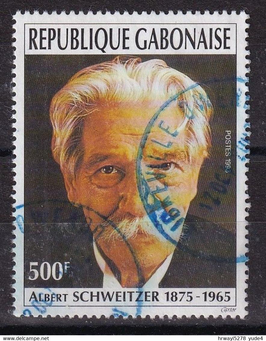 Gabon 1993, 500 Francs, Albert Schweitzer, Minr 1149, Used - Gabon (1960-...)