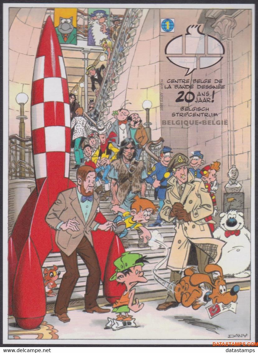 België 2009 - Mi:BL 146, Yv:BL 134, OBP:GCD 5, Black And White Sheet - □ - Party In The Comic Museum - Zwarte/witte Blaadjes