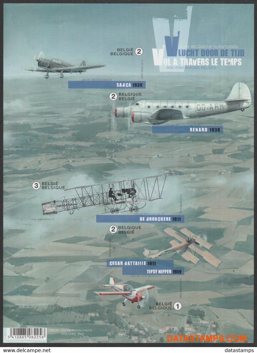 België 2016 - Mi:BL 200, Yv:F4559, OBP:BL 235, Black And White Sheet - XX - Flight Through Time - Zwarte/witte Blaadjes