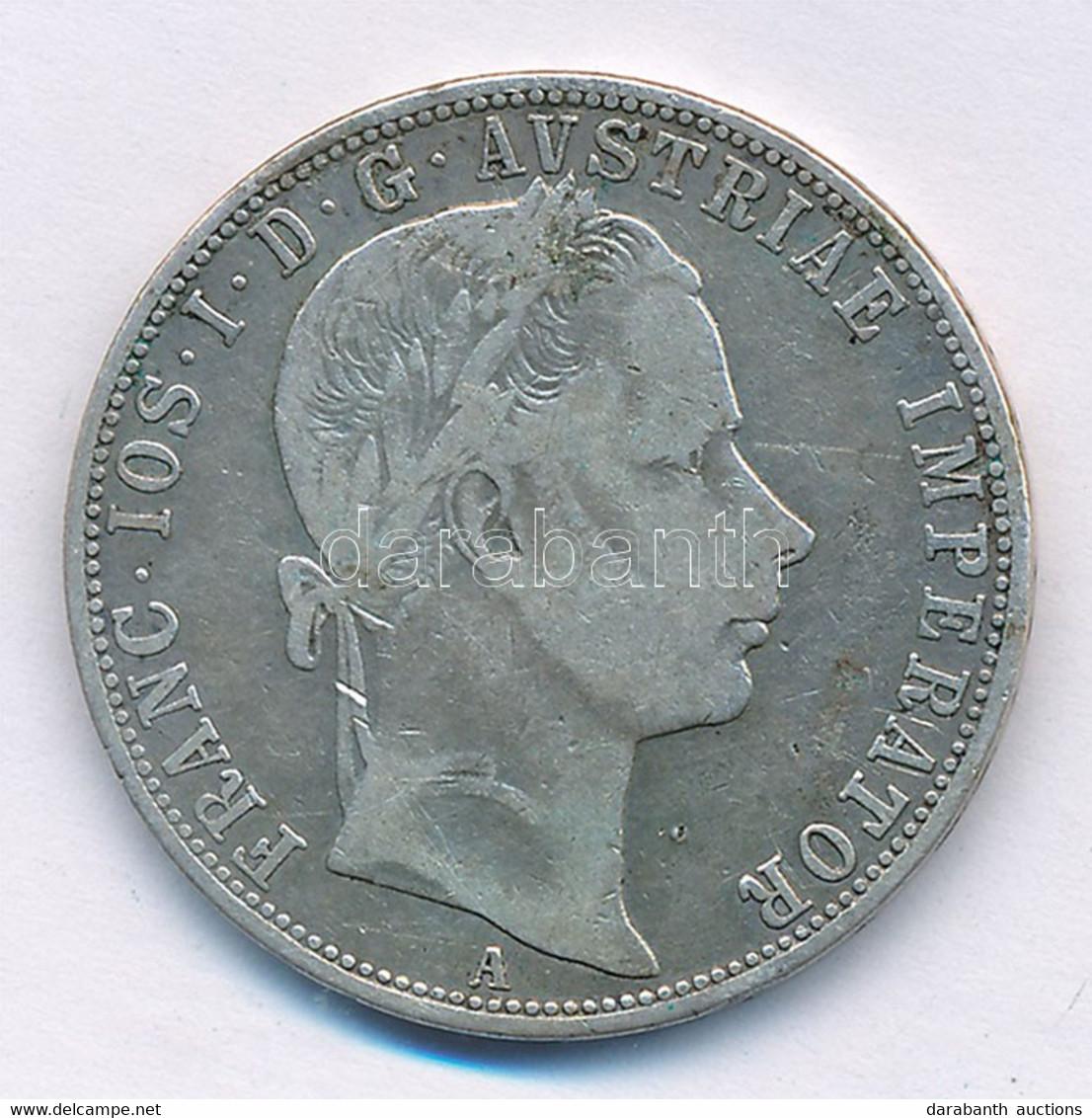 """Ausztria 1859A 1Fl Ag """"Ferenc József"""" T:3 Austria 1859A 1 Florin Ag """"Franz Joseph"""" C:F  Krause KM#2219 - Zonder Classificatie"""