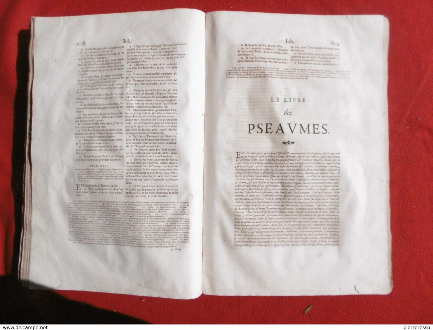 LA SAINTE BIBLE INTERPRETEE PAR JEAN DIODATI 1644 GENEVE PIERRE CHOUET RRRRRRRRRRRR - Christianity, Bibles