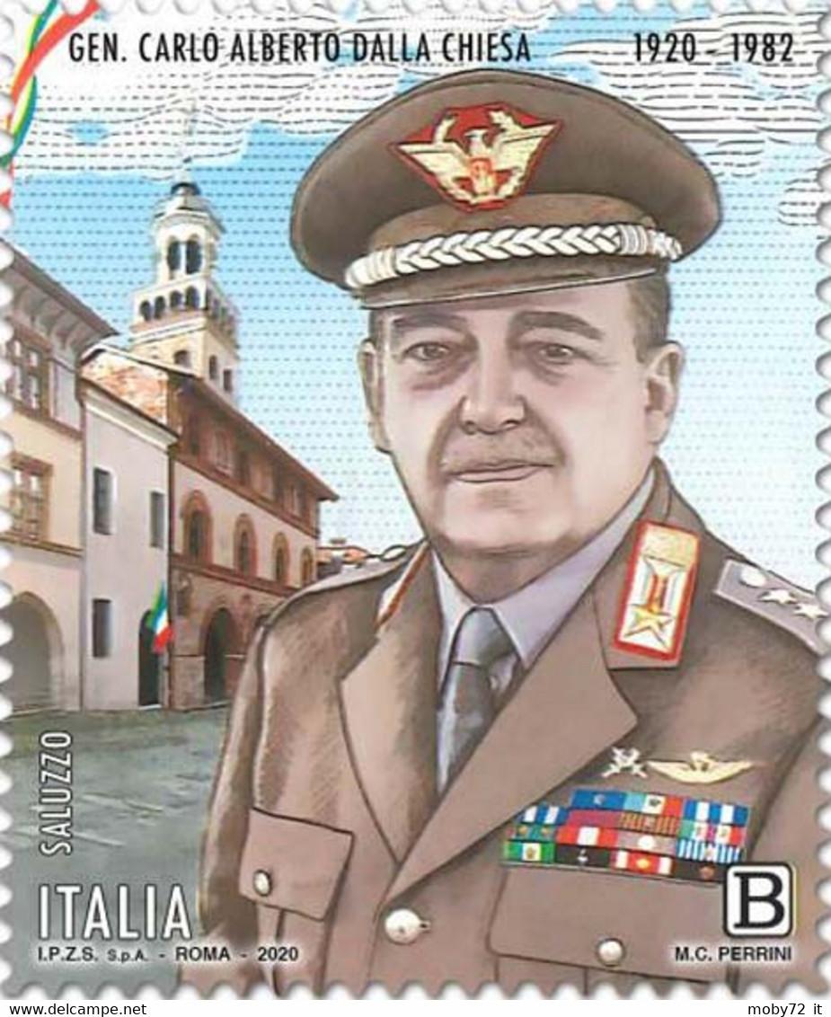 Italia - 2020 - Usato/used - Carlo Alberto Dalla Chiesa - 2011-...: Afgestempeld
