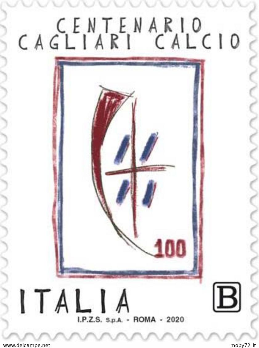 Italia - 2020 - Usato/used - Cagliari Calcio - 2011-...: Afgestempeld