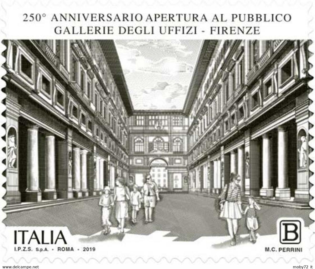 Italia - 2019 - Usato/used - Gallerie Degli Uffizi - 2011-...: Afgestempeld