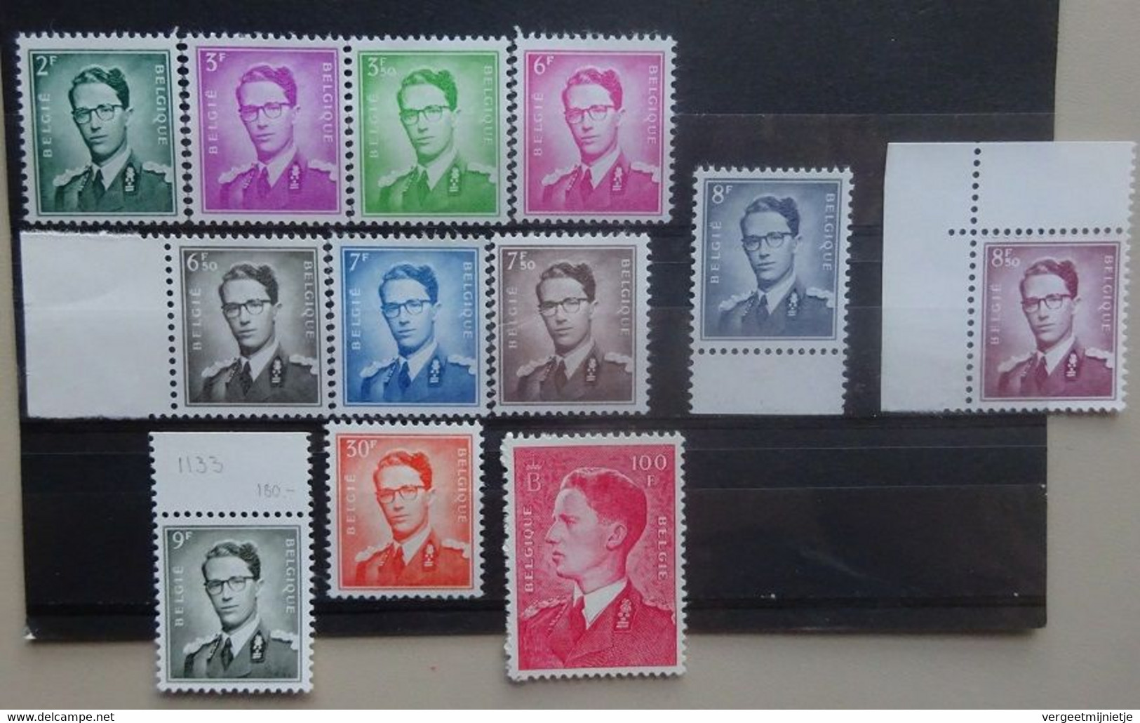 BELGIE  1958   Nr. 1066 - 1075    Koning Boudewijn       Postfris **    CW  365,00 - Unused Stamps