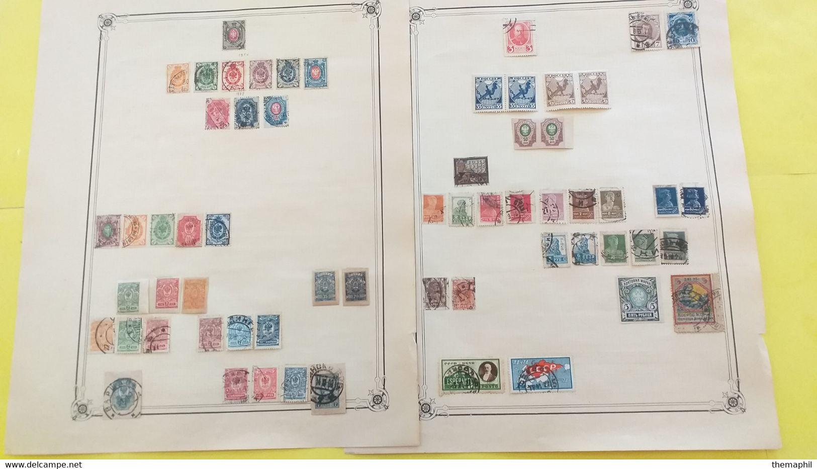 Lot N° TH 410 EUROPE Une Collection Sur Page D'albums , Norvege Belgique Etc.. - Collections (with Albums)
