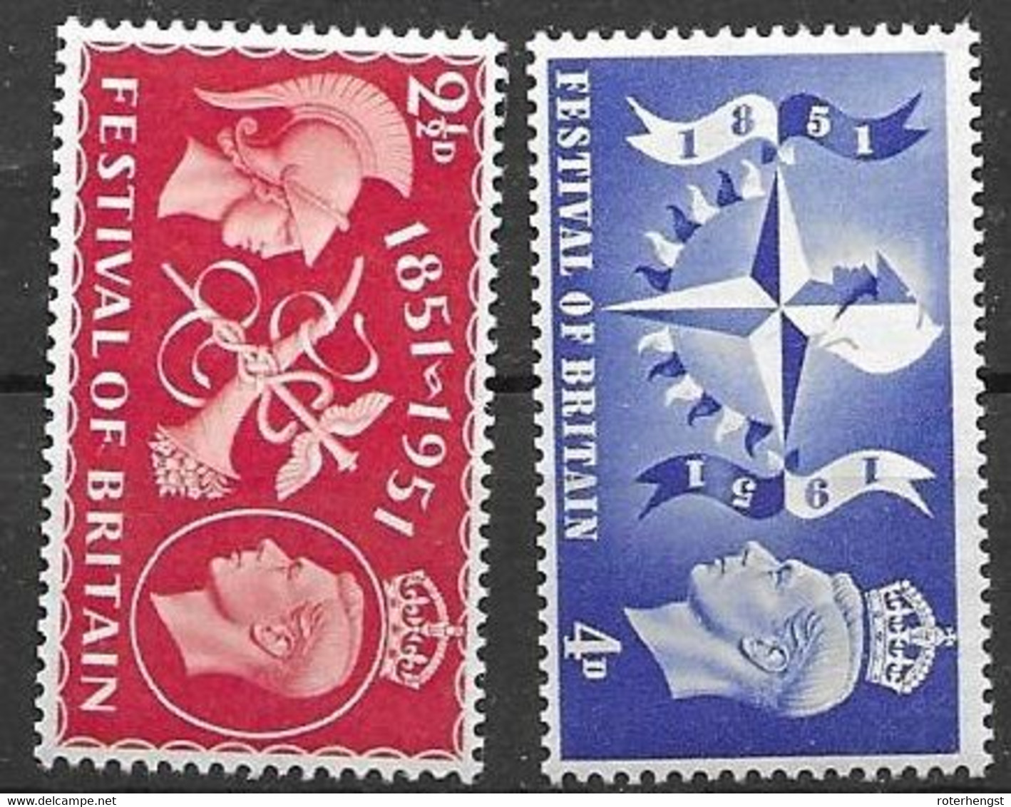 Great Britain 1951 Set Mnh ** - Unused Stamps