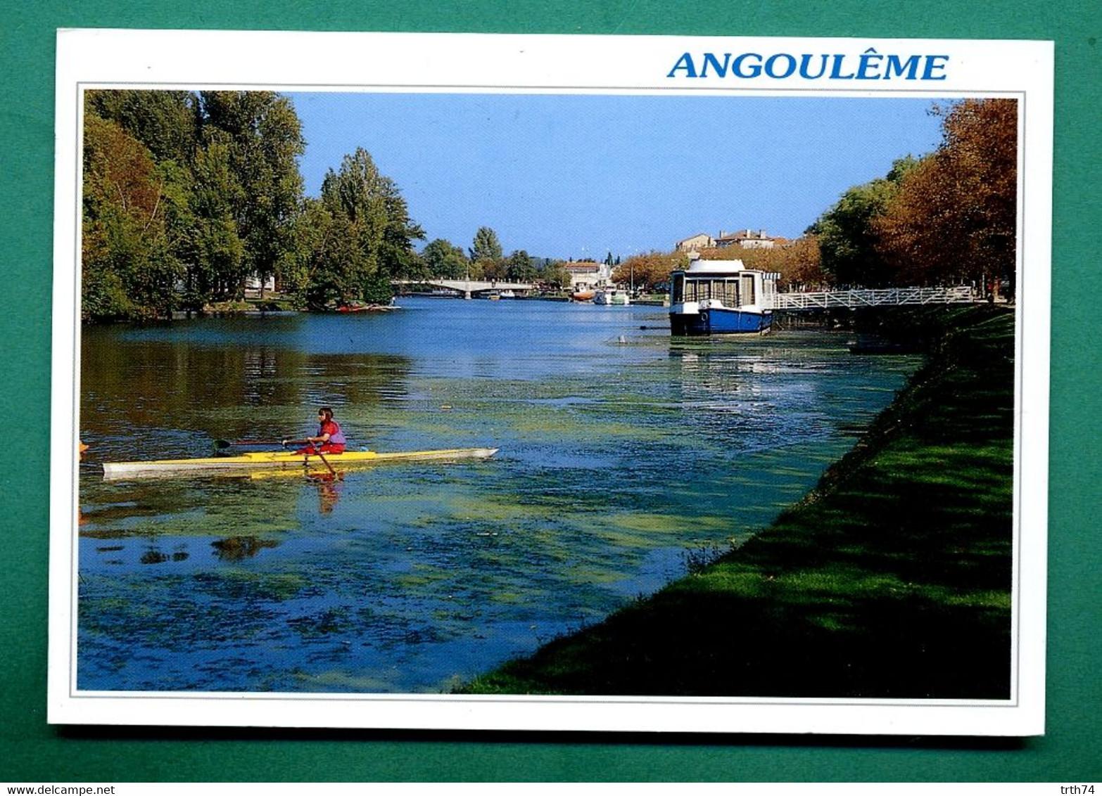 16 Angouleme Les Bords De La Charente ( Aviron, Rameur, La Péniche, Bateaux, Port De L' Houmeau, Passerelle Bourgines ) - Angouleme