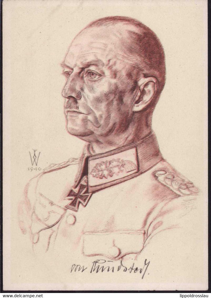 * Generaloberst Von Rundstedt, Sign. Willrich VdA - Storia