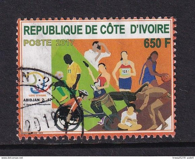 Ivory Coast 2017, 650 Francs, Soccer, Basketball, Wheelchair, Guitar, Vfu - Côte D'Ivoire (1960-...)