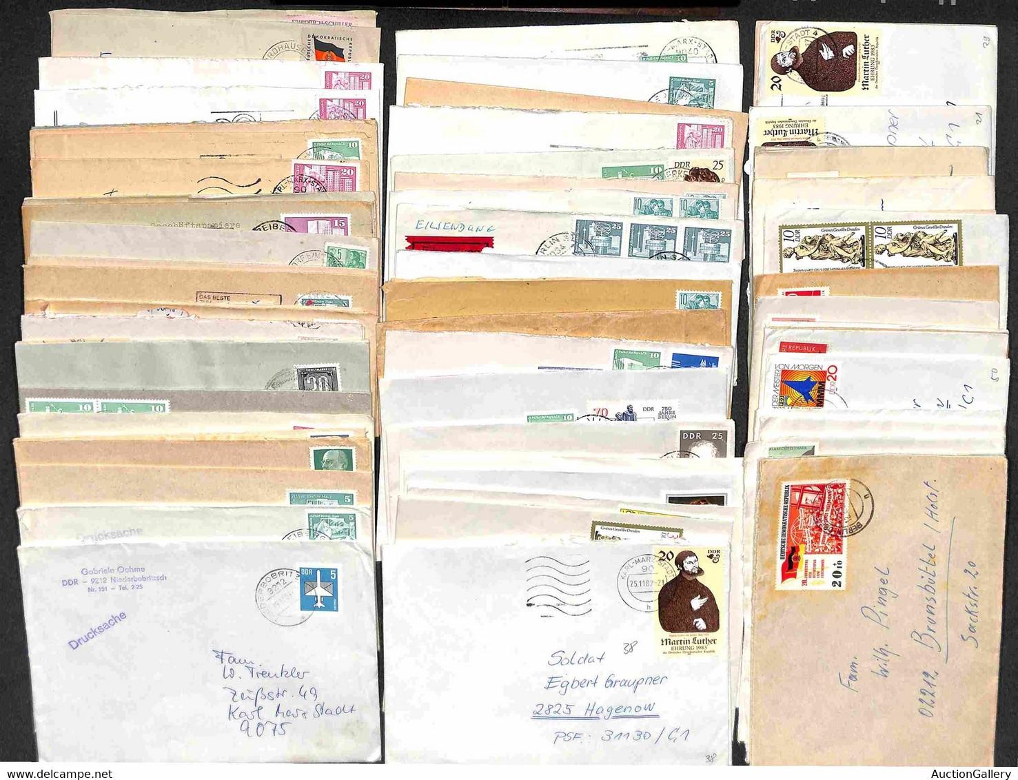 LOTTI & COLLEZIONI - GERMANIA - 1962/1988 - Oltre 100 Buste E Lettere Diverse Con Annulli E Timbri Commemorativi Del Per - Ohne Zuordnung