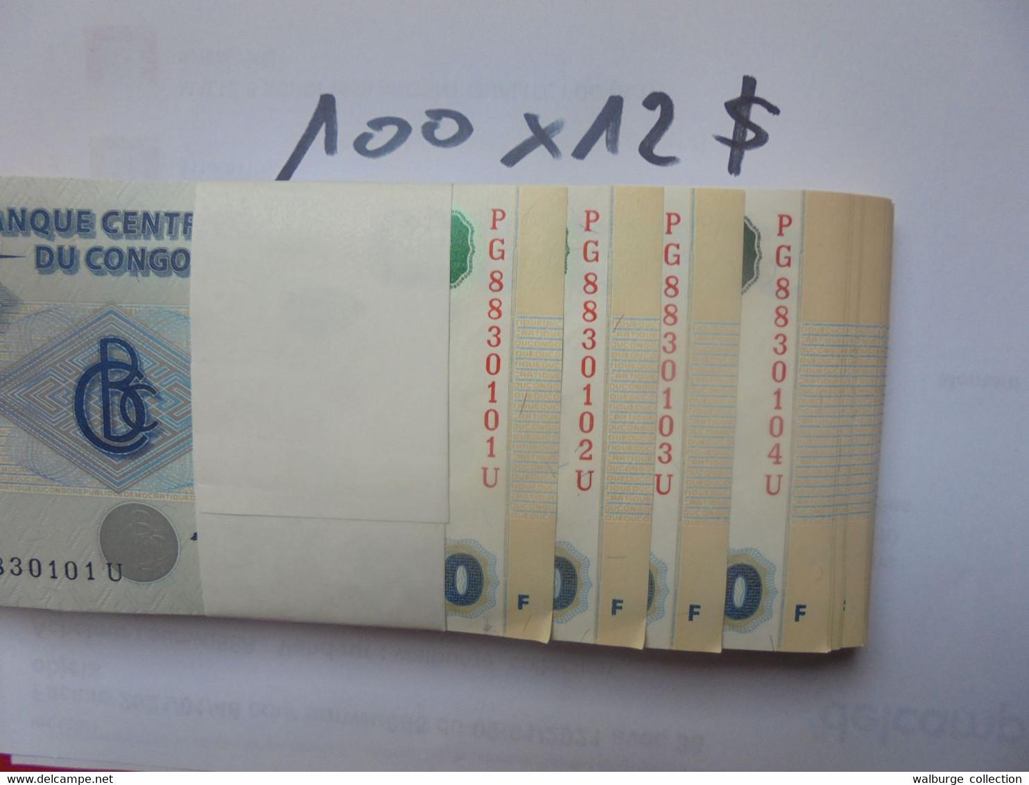 CONGO LIASSE 500 FRANCS 2002 100 BILLETS NEUFS NUMEROS SE SUIVANT COTE:1200$ !!! - République Démocratique Du Congo & Zaïre