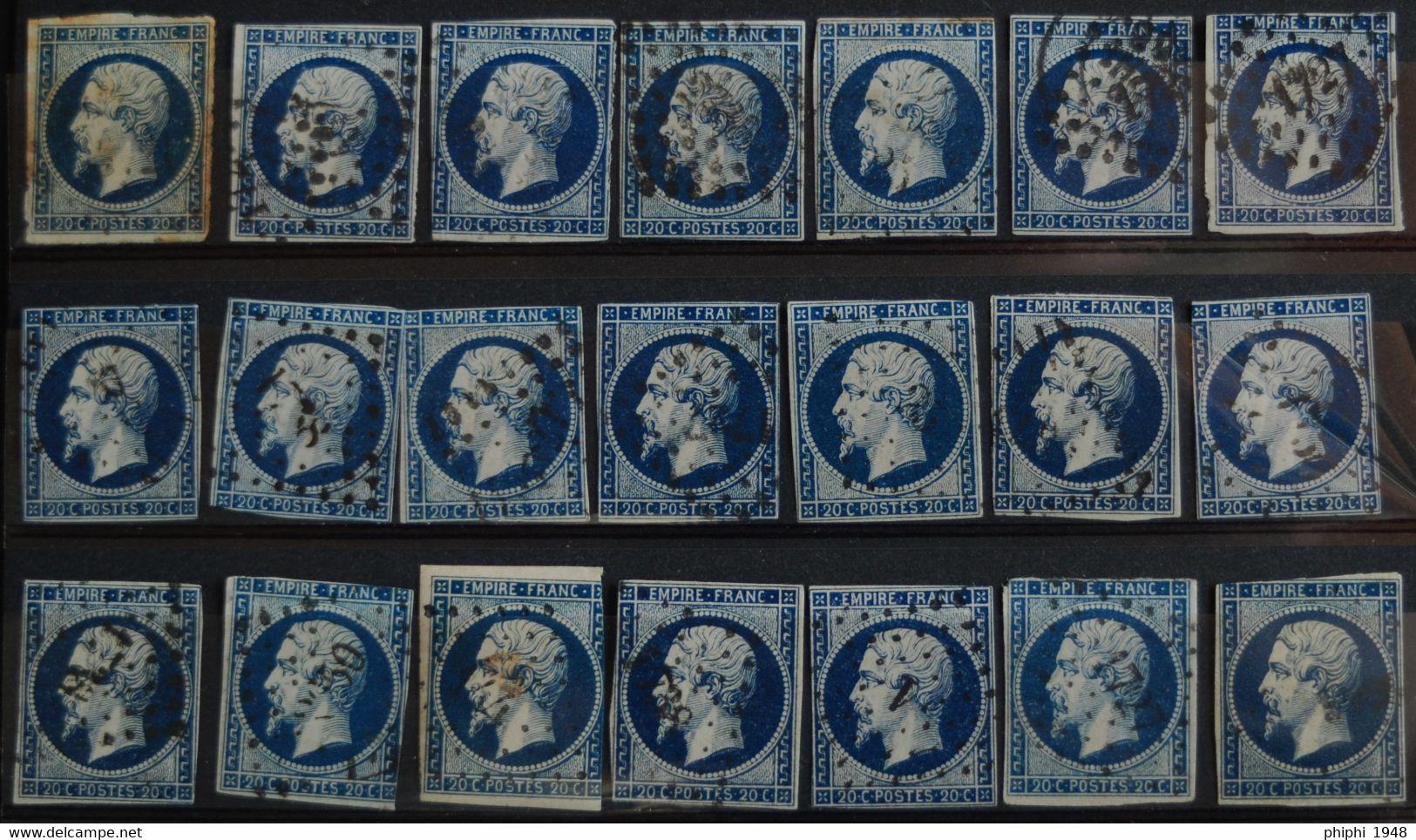 -NAPOLEON III N° 14 A   Bleu Foncé ( Peu De Marge.) - 1853-1860 Napoleon III