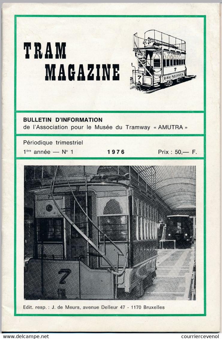 TRAM MAGAZINE N°1 à 4 - Bilingue Français / Néerlandais - 32 Pages - 16 Cm X 24 Cm - Nombreuses Illustrations - Trains