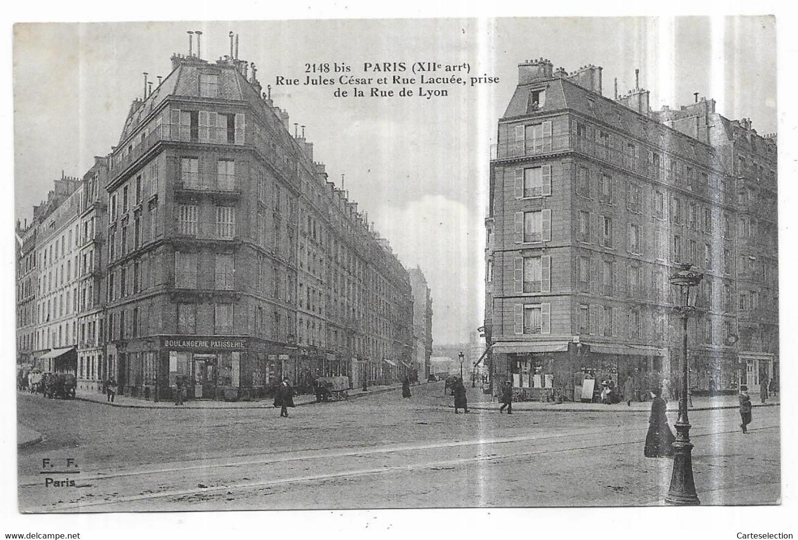 Paris (XII°) Boulangerie Patisserie Rue Jules César Et Rue Lacuée, Prise De La Rue De Lyon - District 12