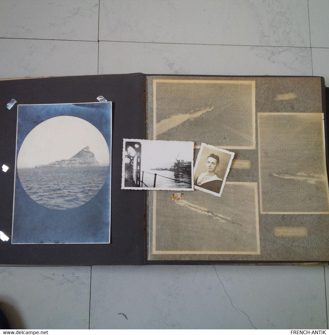 ALBUM PHOTO SECONDE GUERRE BATEAU MARIN MAROC 1941 A VOIR - Albums & Verzamelingen