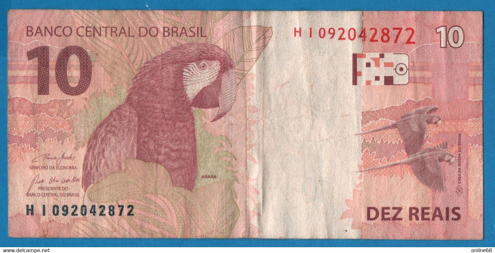 BRASIL 10 REALS 2010 # HI092042872 P# 254e   Arara - Brazil