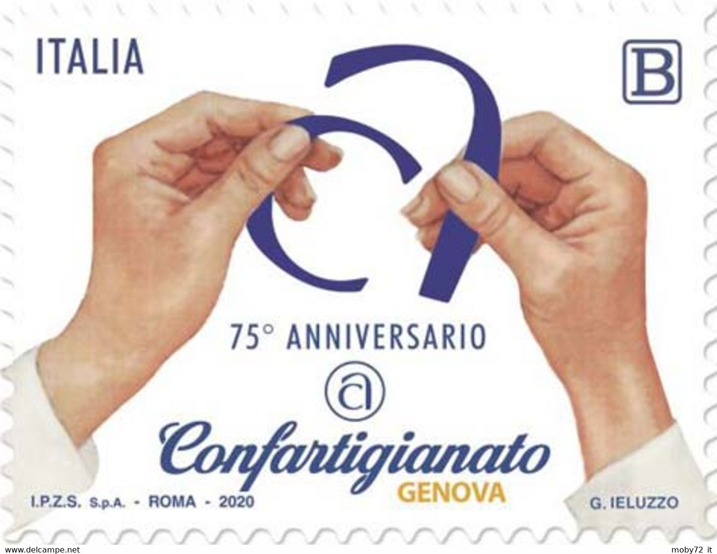 Italia - 2020 - Usato/used - Confartigianato Di Genova - 2011-...: Afgestempeld