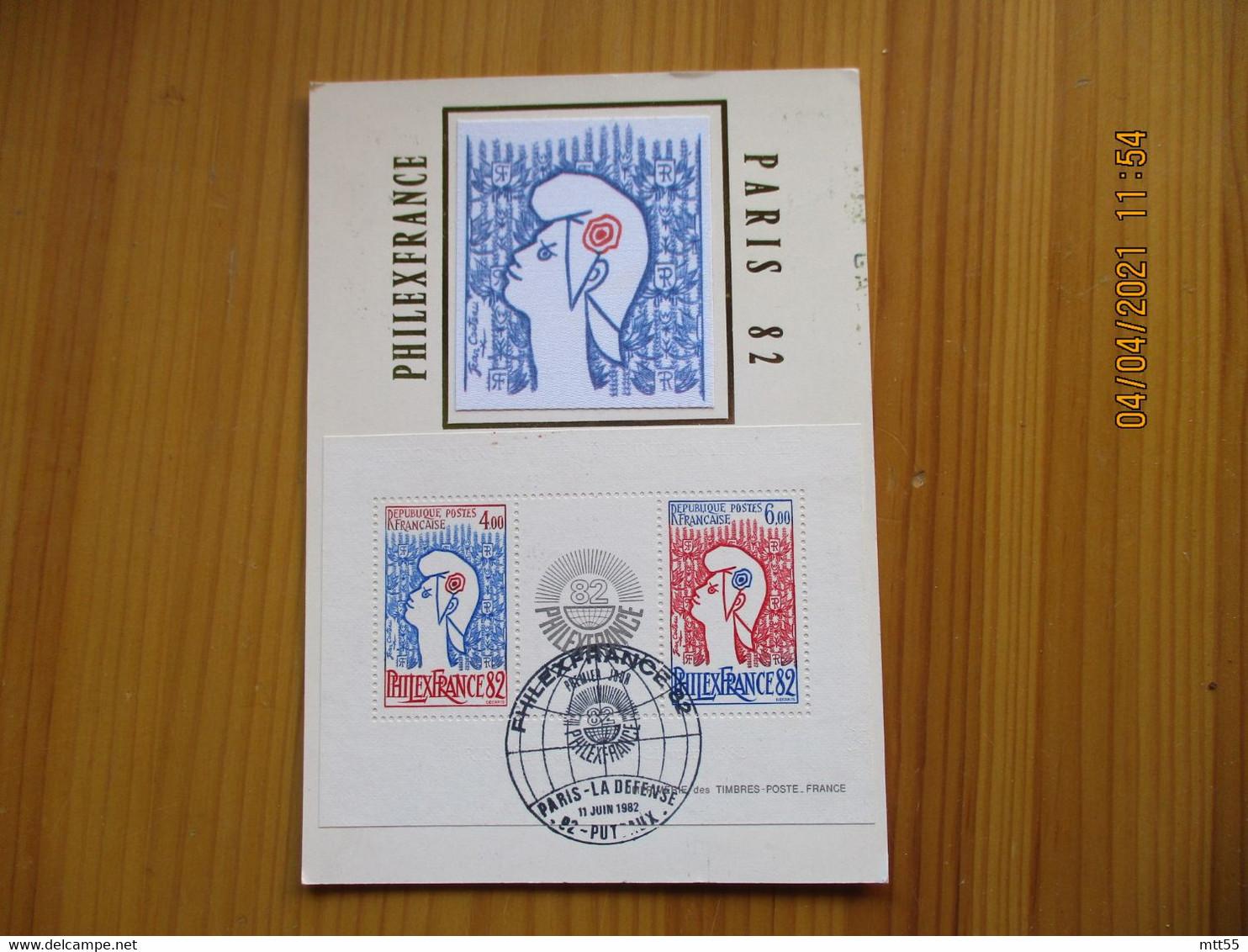 Bande Philexfrance 1982 Carte Maximum - 1980-89