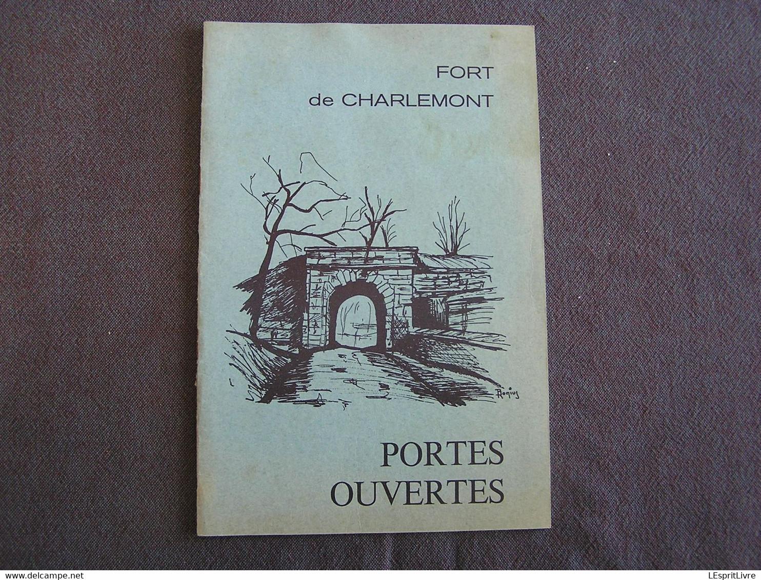 FORT DE CHARLEMONT PORTES OUVERTES Au Centre D' Entrainement Commando 1977 Zouaves Programme Givet Ardennes Vauban - Champagne - Ardenne