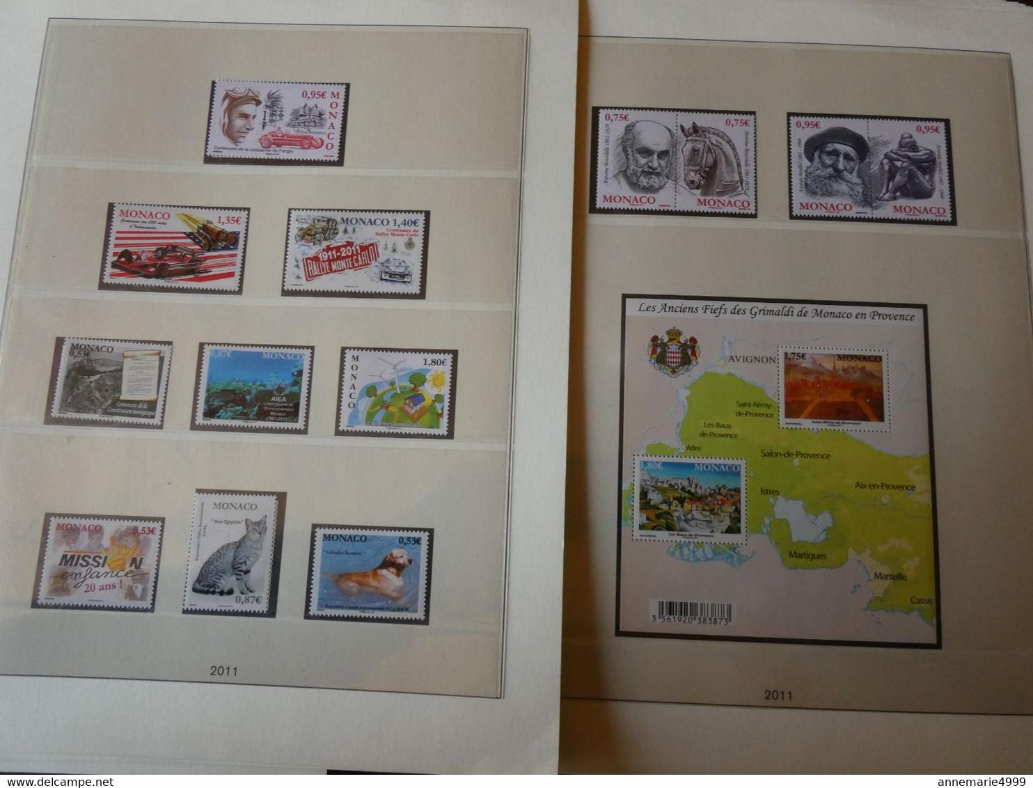 MONACO Années 2009 à 2013 Neufs Sans Charnière Faciale 263 € Moins 50 % Timbres Et Blocs Voir Scans - Collections, Lots & Series
