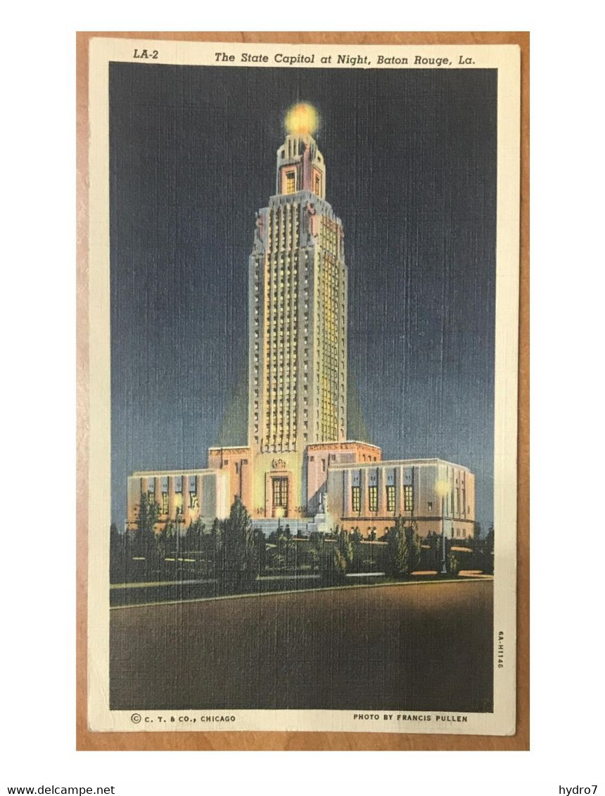 Baton Rouge 1942 The State Capitol - Tallest Building In The South Advertising Stamp: Buy Defense Bonds! - Baton Rouge