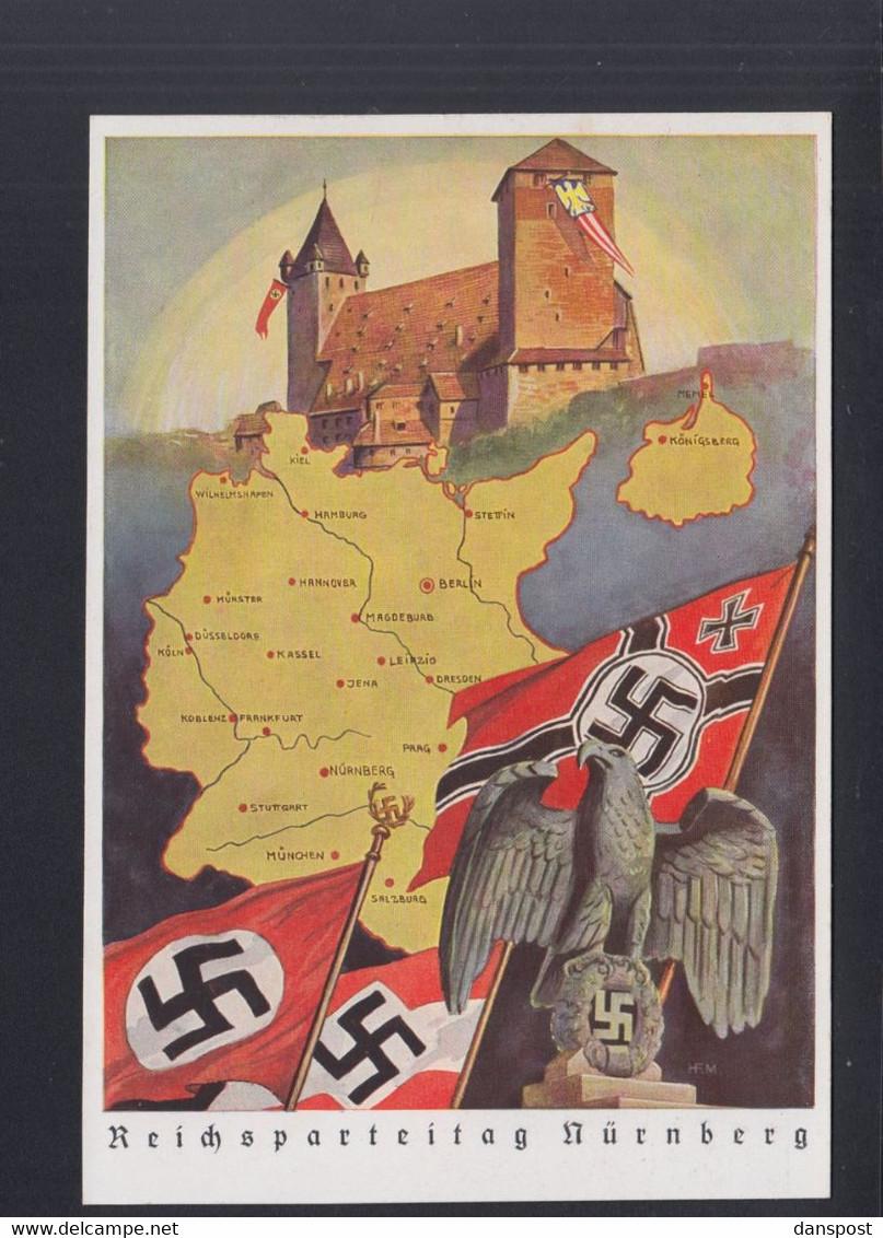 Dt. Reich PK Reichsparteitag Nürnberg Ungelaufen - Ereignisse