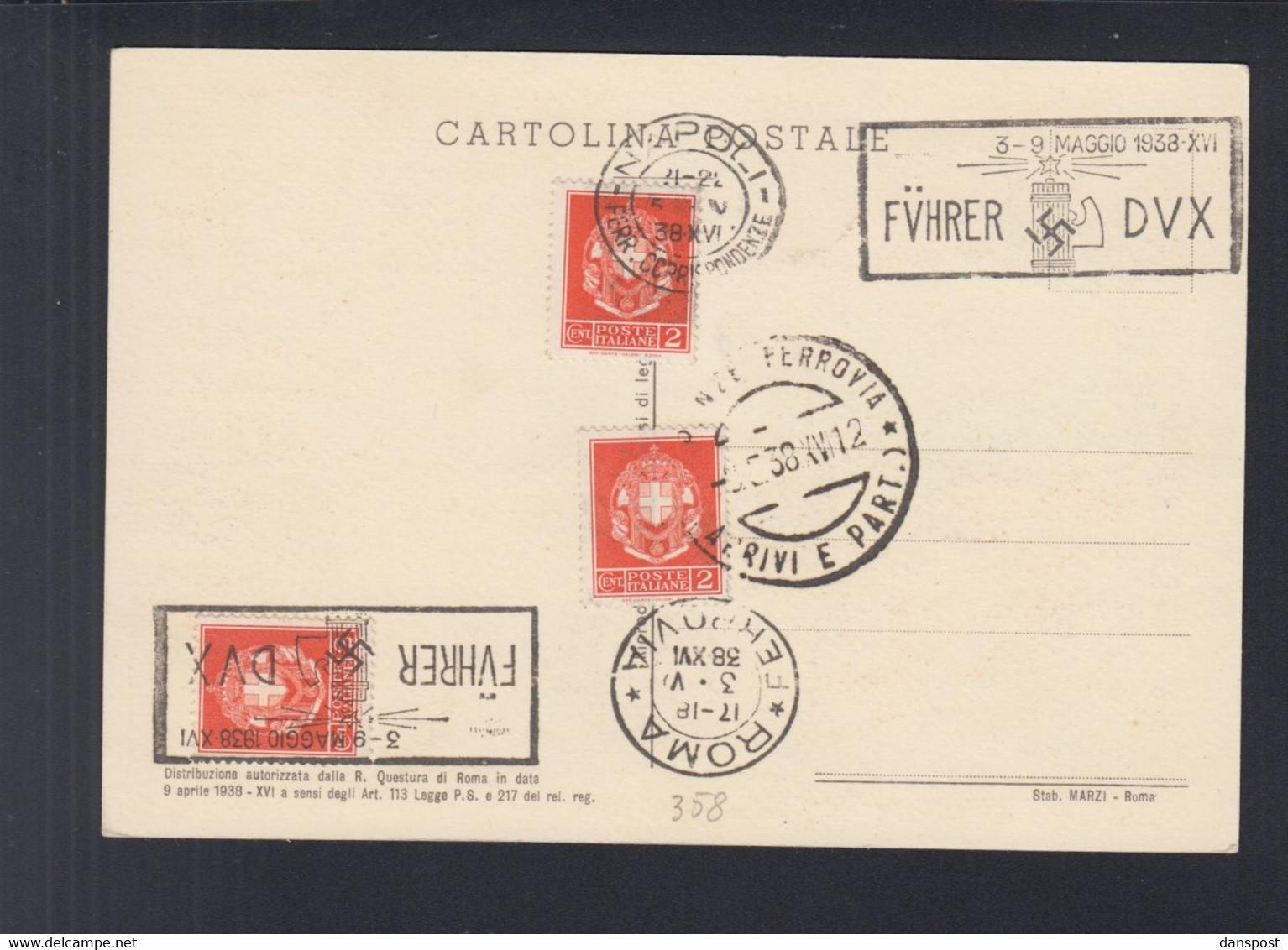 Dt. Reich Italien Italia PK Hitler Mussolini 1938 - Historische Persönlichkeiten