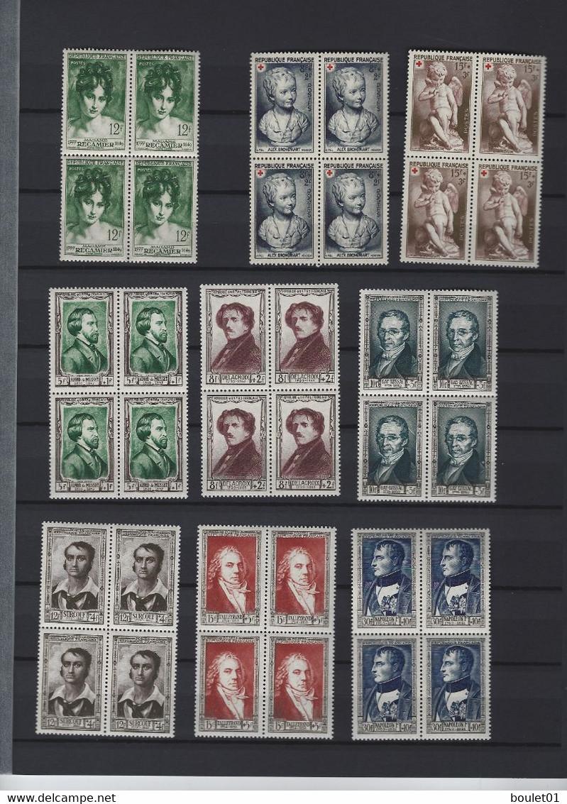 Collections De 68 Timbres Neufs Sans Charnière En Bloc De 4 Du N°875 Au N° 1212 Avec Série Delacroix - Verzamelingen