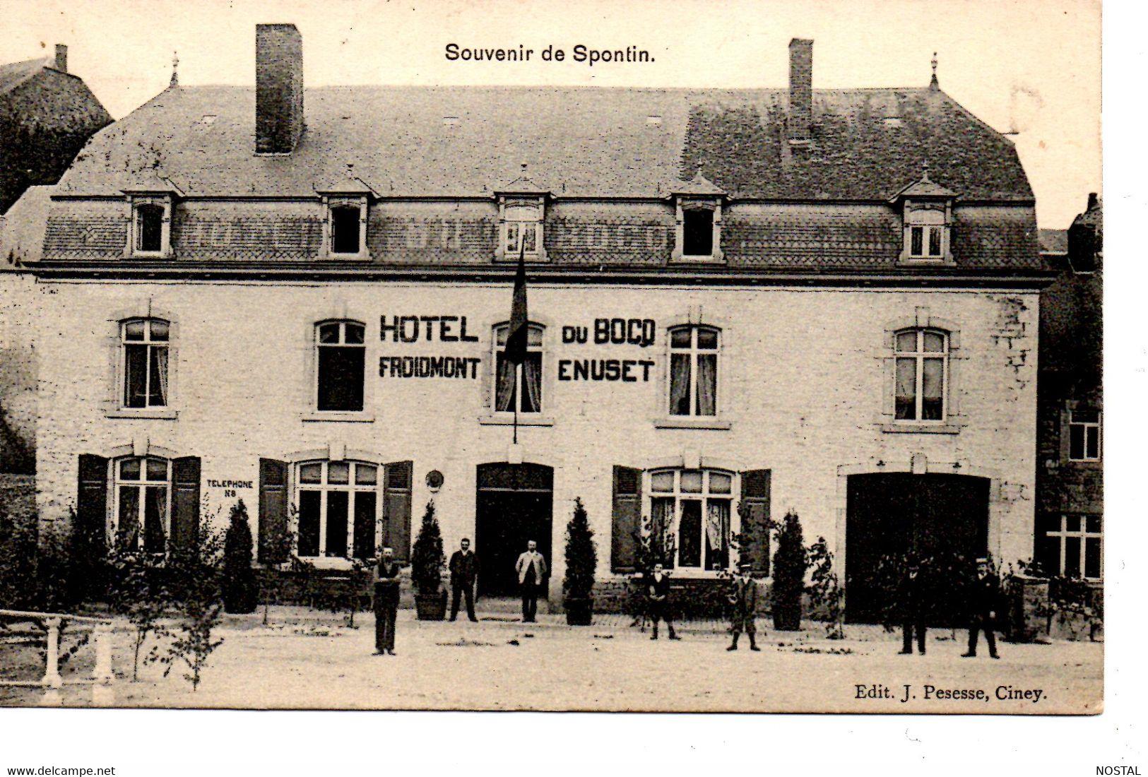 J 39. Souvenir De Spontin : Hotel Du Bocq - Yvoir