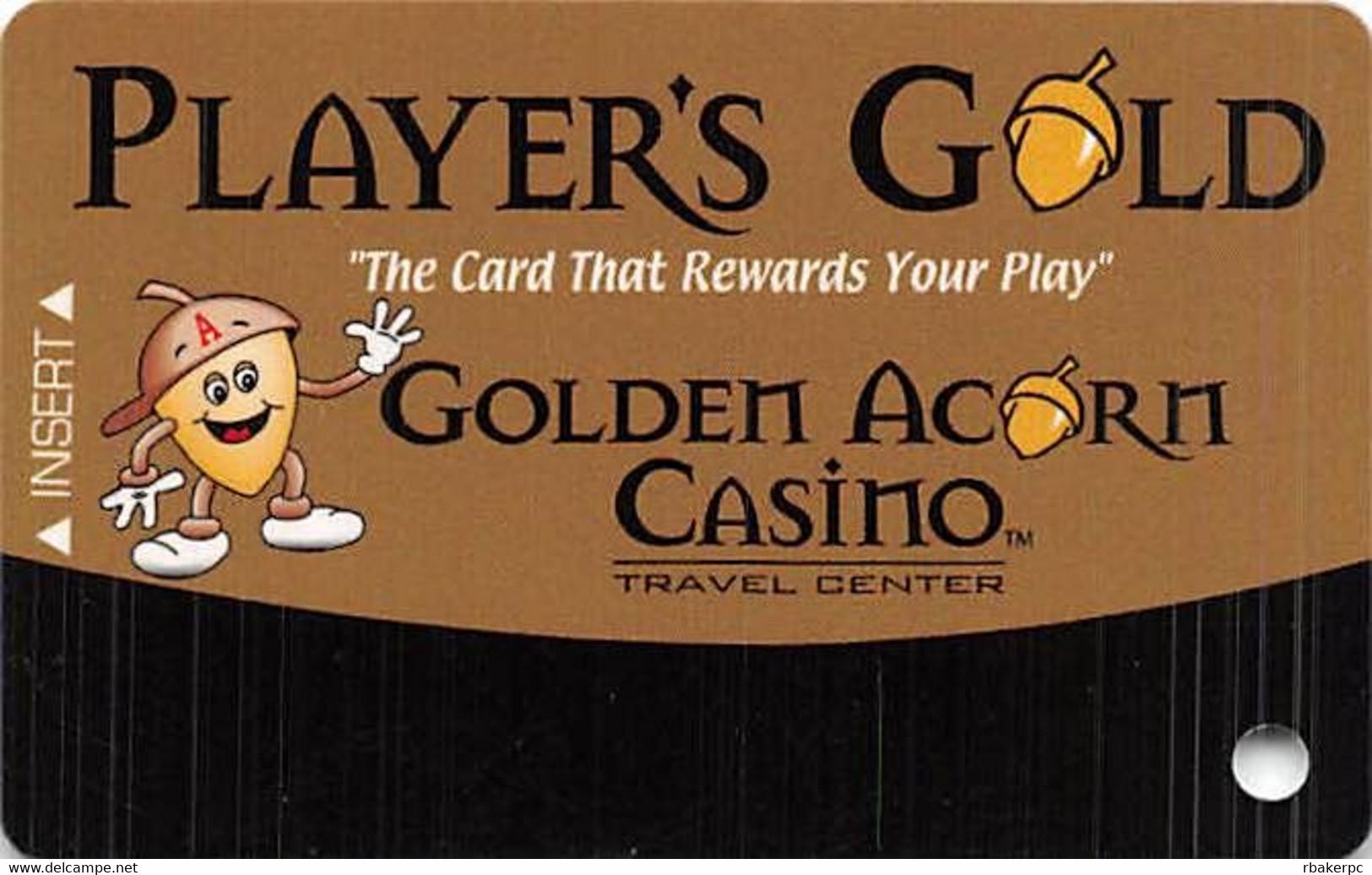 Golden Acorn Casino Campo, CA - BLANK Slot Card - Reverse Logo Bottom Right - Casino Cards