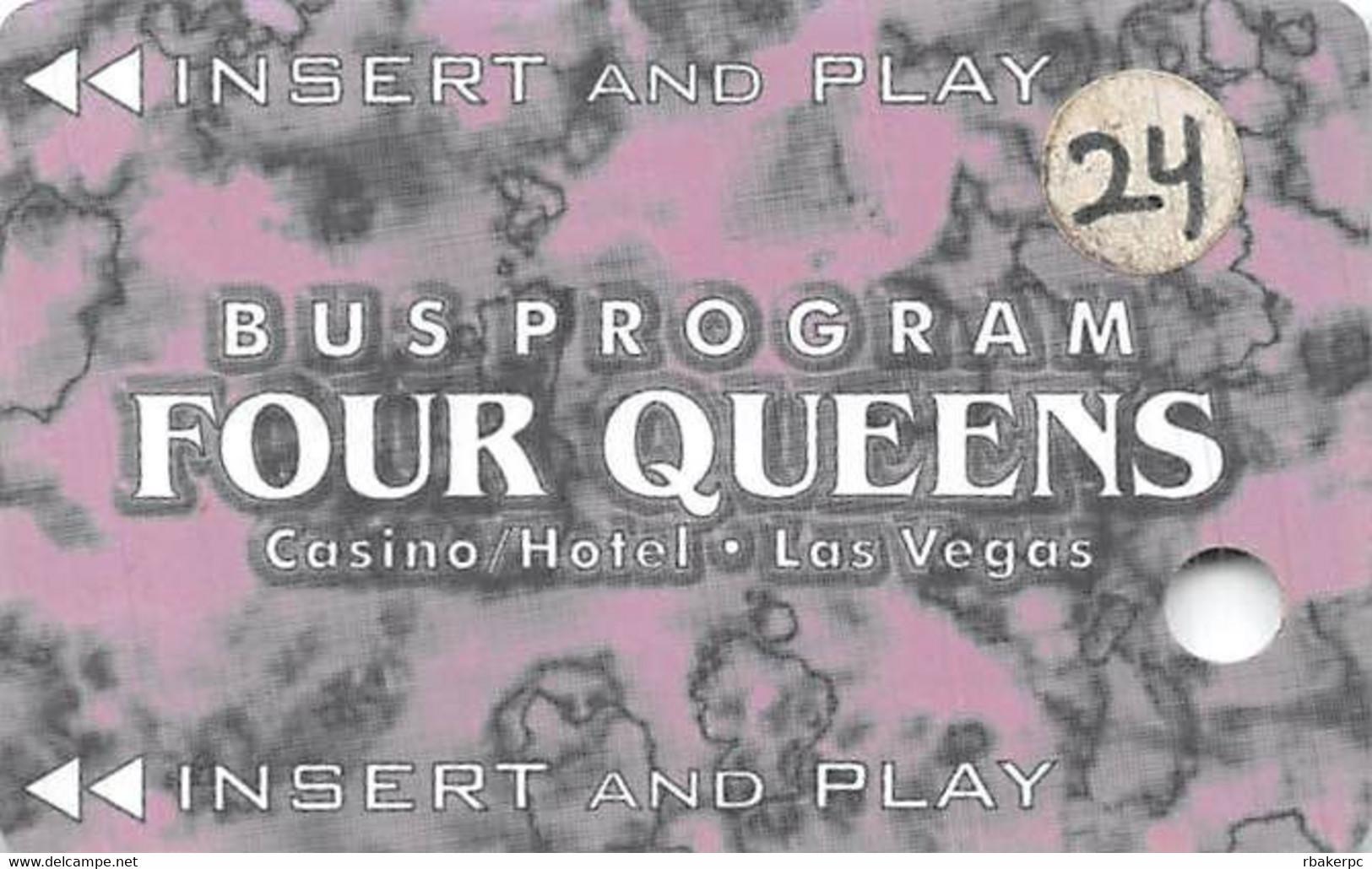 Four Queens Casino Las Vegas Bus Card - Casino Cards
