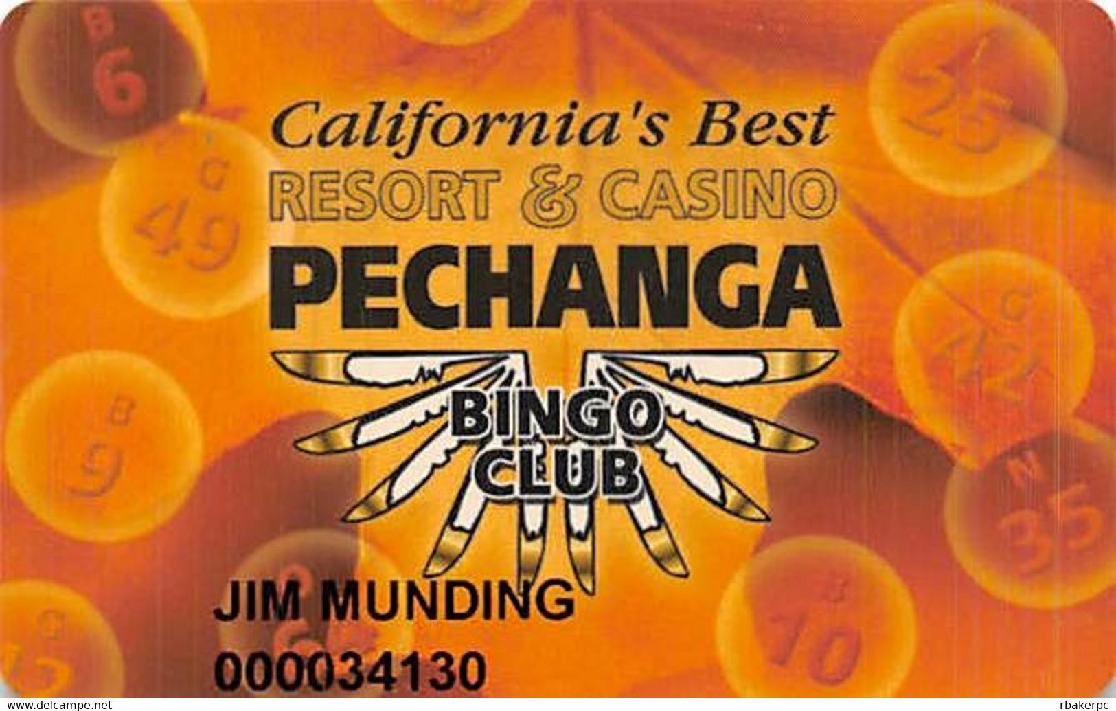 Pechanga Casino Calif - Slot Card - Casino Cards