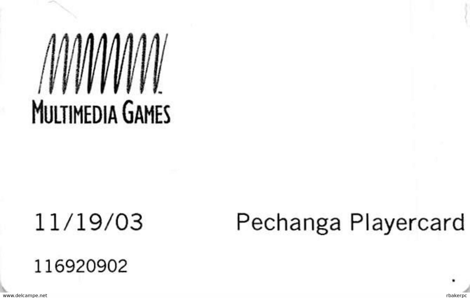Pechanga Casino Calif - Temporary Playercard (with NO Space) Slot Card - Casino Cards