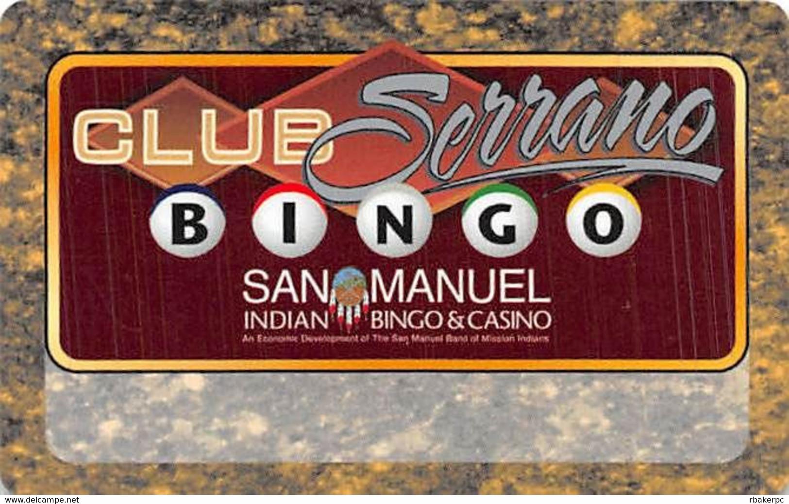 San Manuel Casino - Highland, CA - BLANK Slot Card - Casino Cards