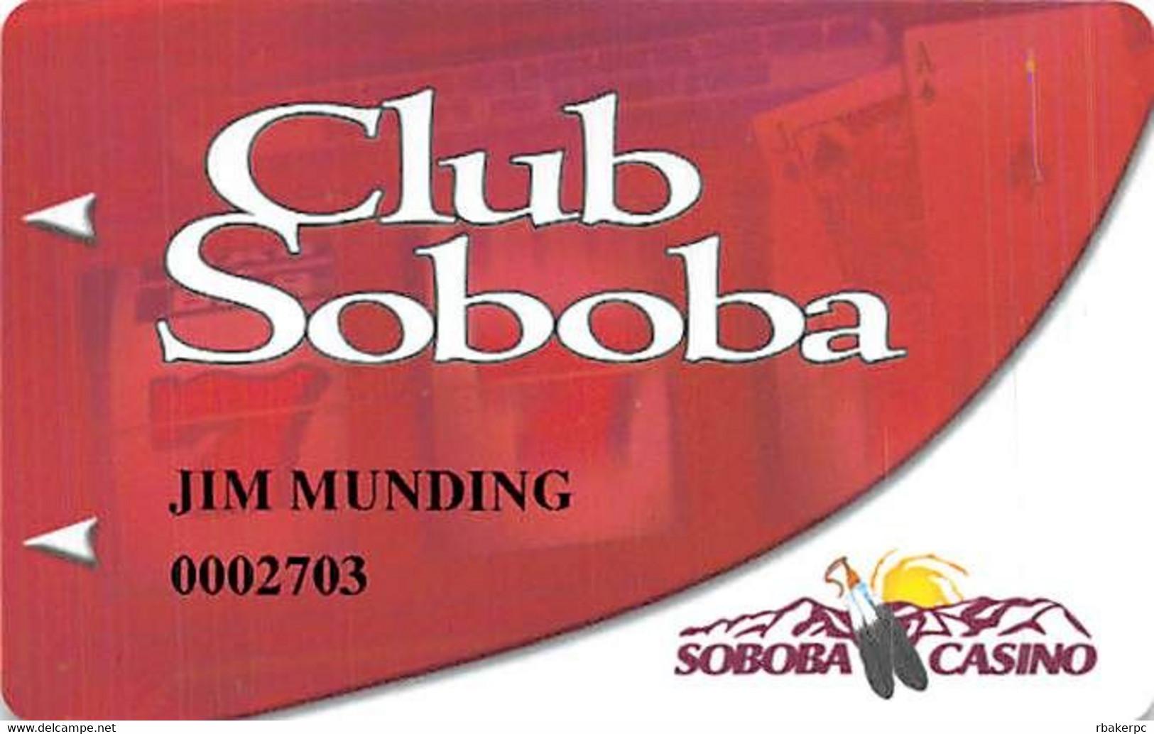Soboba Casino - San Jacinto, CA USA - Slot Card - Casino Cards