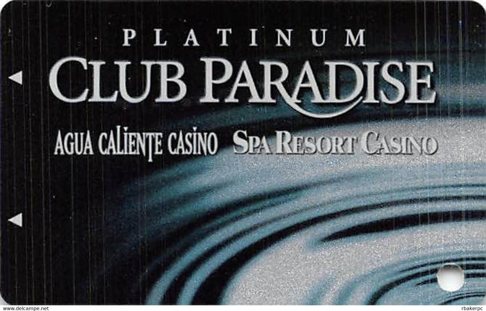 Agua Caliente & Spa Resort Casinos In California, USA - BLANK Slot Card - Casino Cards