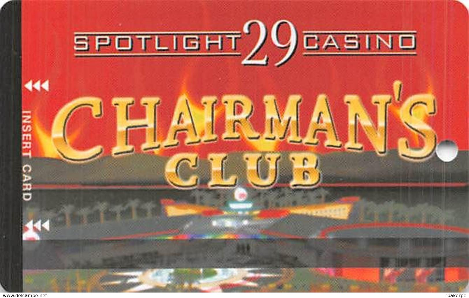 Spotlight 29 Casino - Coachella, CA USA - BLANK Slot Card - Casino Cards