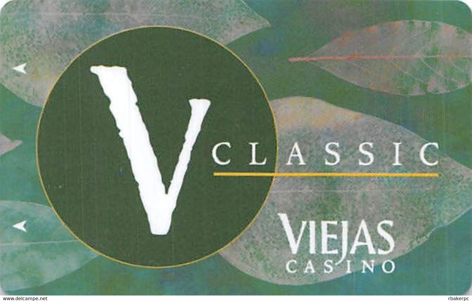 Viejas Casino - Alpine CA - BLANK V Classic Slot Card - No TM In Reverse Logo - Casino Cards