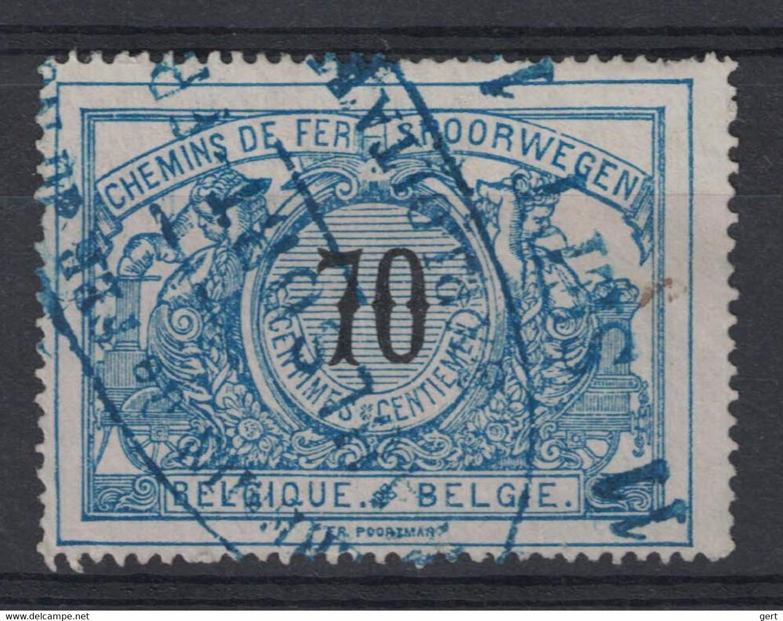 "OBP/COB SP/CF N° 23 - Oblitération Ovale Bleu ""Chemin De Fer Du Nord - Waulsort-Freyre - Exploitation""  Très Rare! - North Of Belgium"