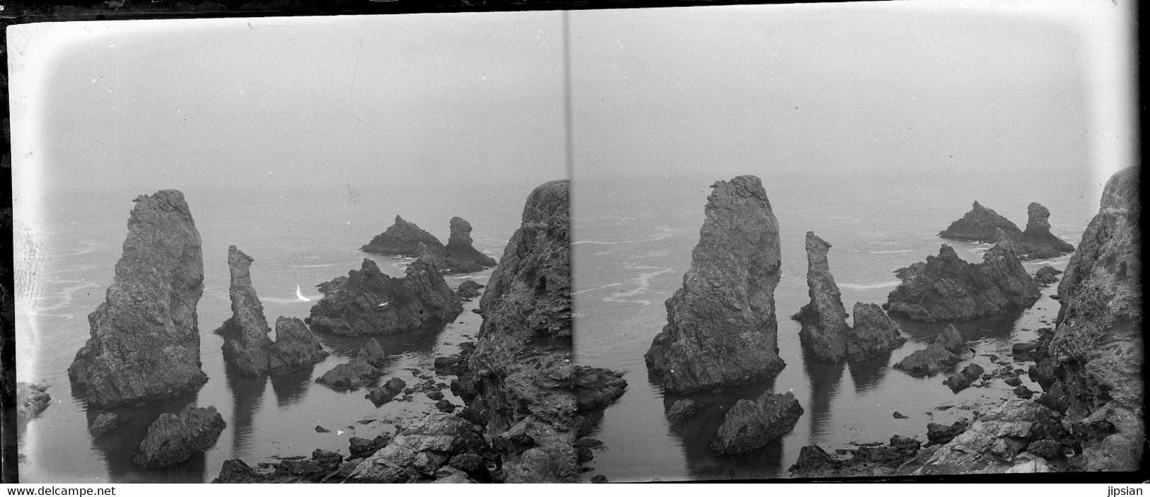 Lot De 32 Plaques De Verre Stéréo Négatives Belle Île En Mer Belle Isle Le Palais Port Voiliers Rochers -- Garfen - Belle Ile En Mer