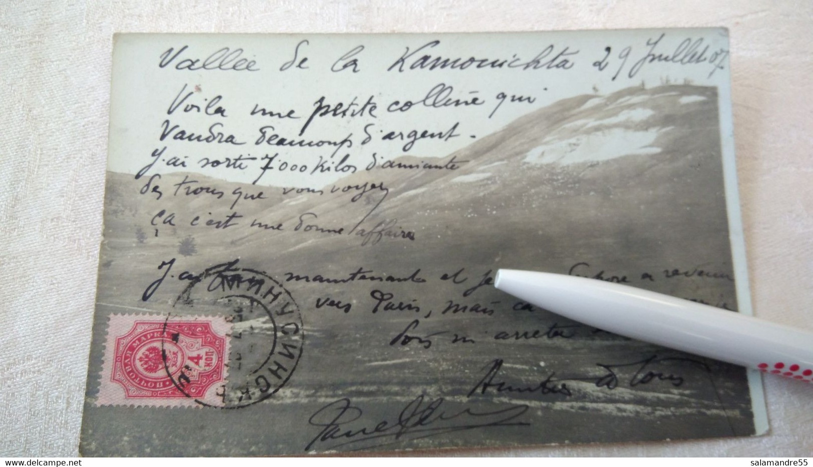 Mission Militaire 1907  Géologique Ethnographique Sibérie Paul Pléneau  Charcot  Bolchoi Mine Amiante   Russie Oural - Missioni