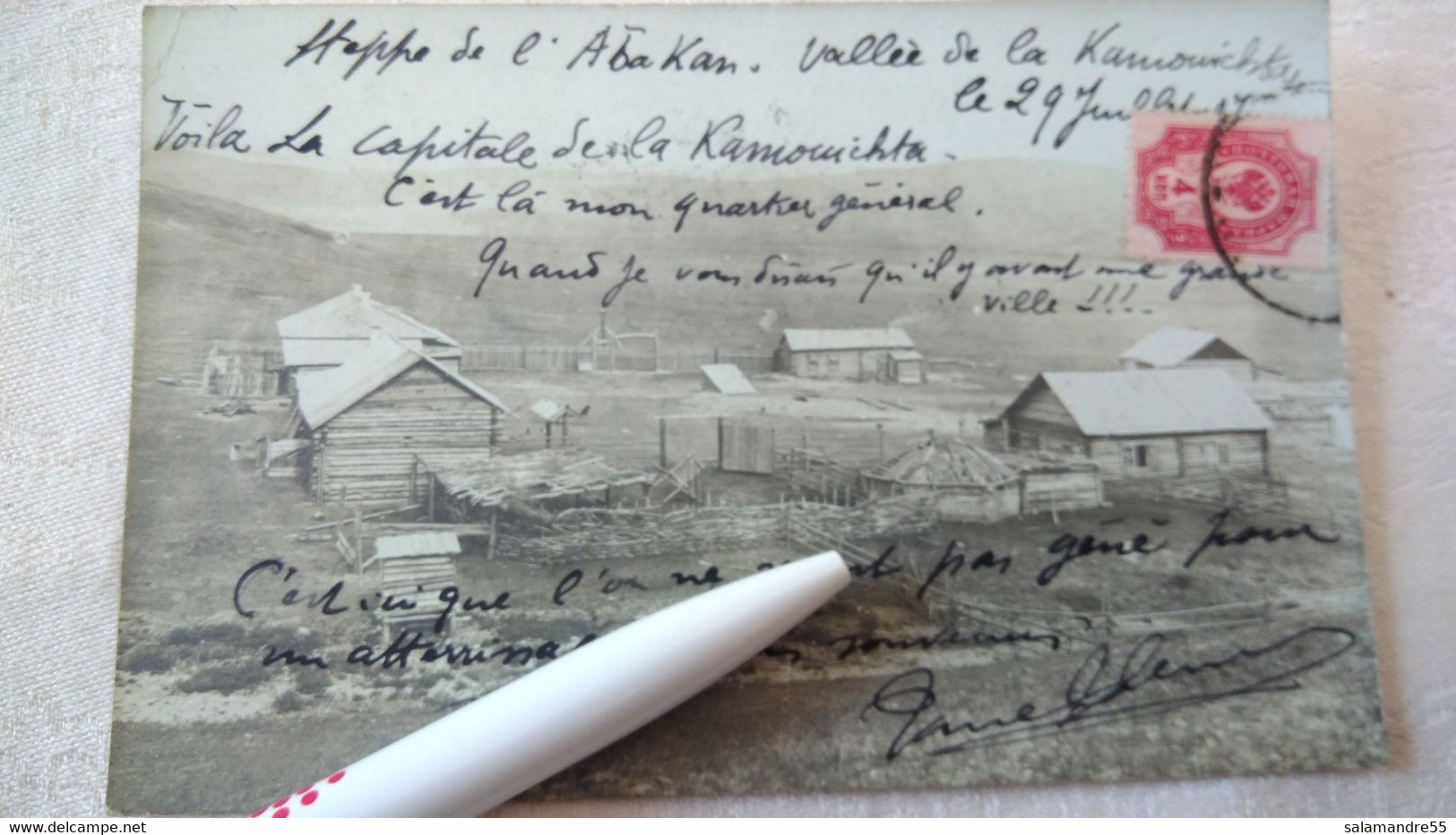 Mission Militaire 1907   Sibérie Paul Pléneau  Charcot  Bolchoi Mine Amiante   Russie Oural Abakan Kamouichta - Misiones
