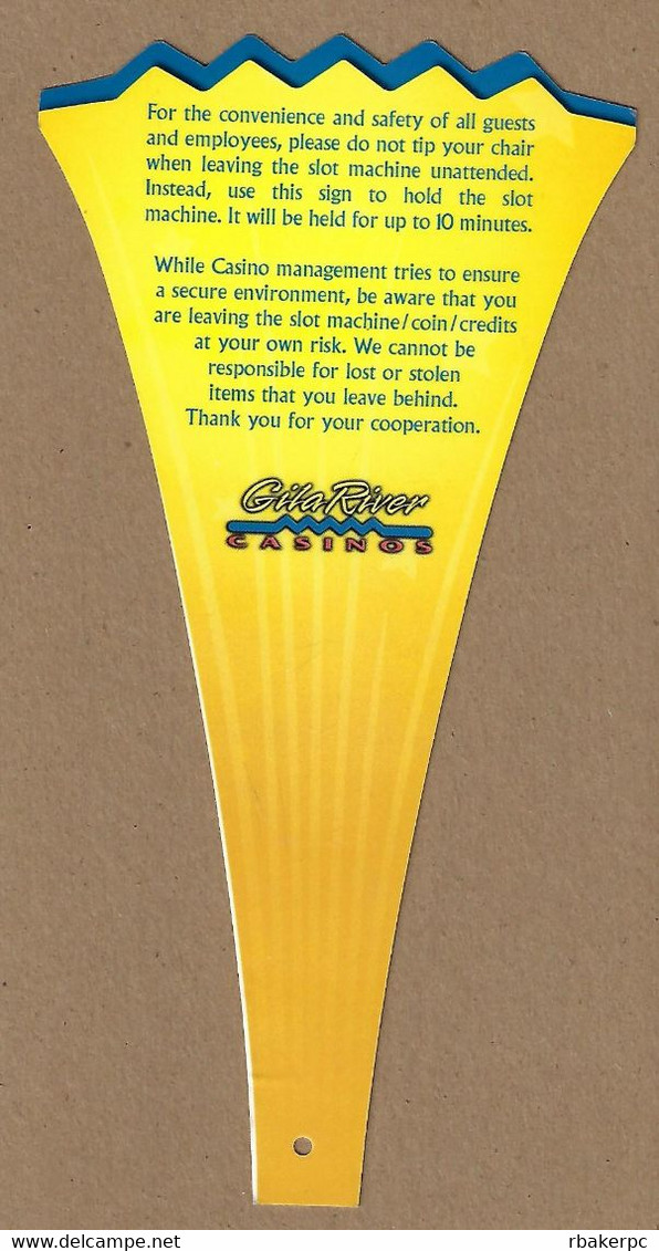 Gila River Casinos In AZ - Machine In Use Slot Machine Flag - Casino Cards