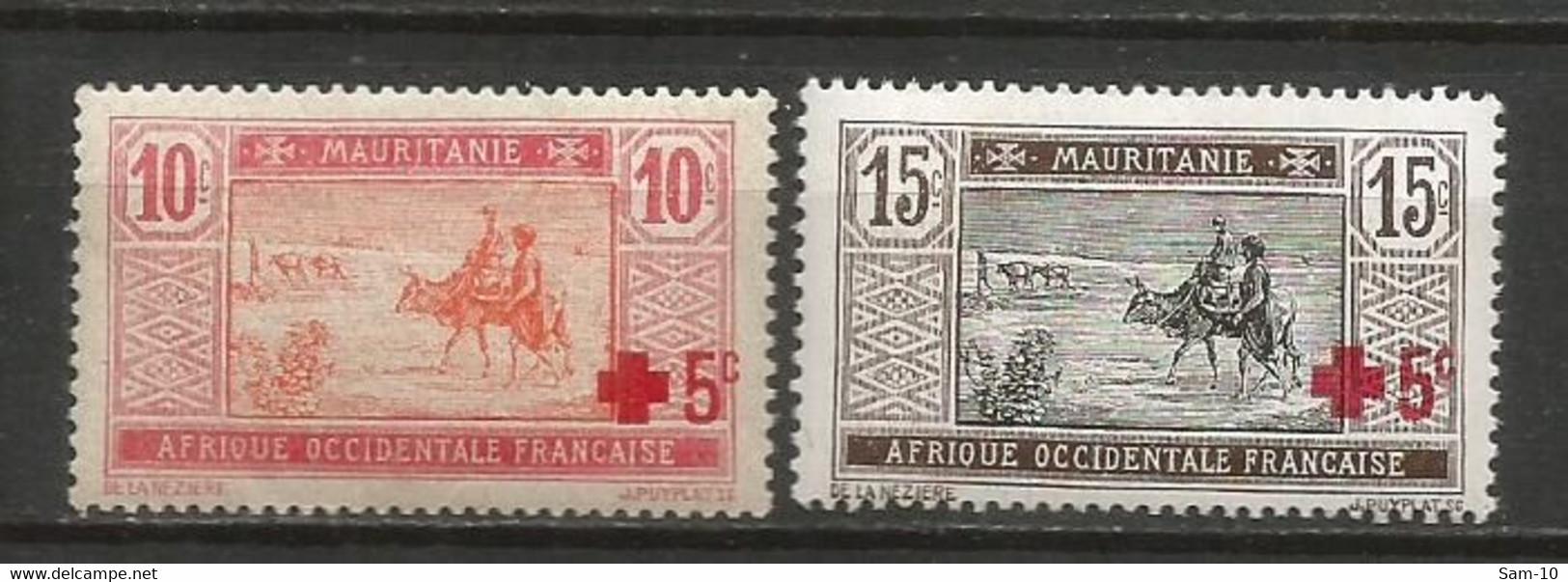 Timbre Colonie Française Mauritanie  Neuf ** N  34 / 35 - Nuovi