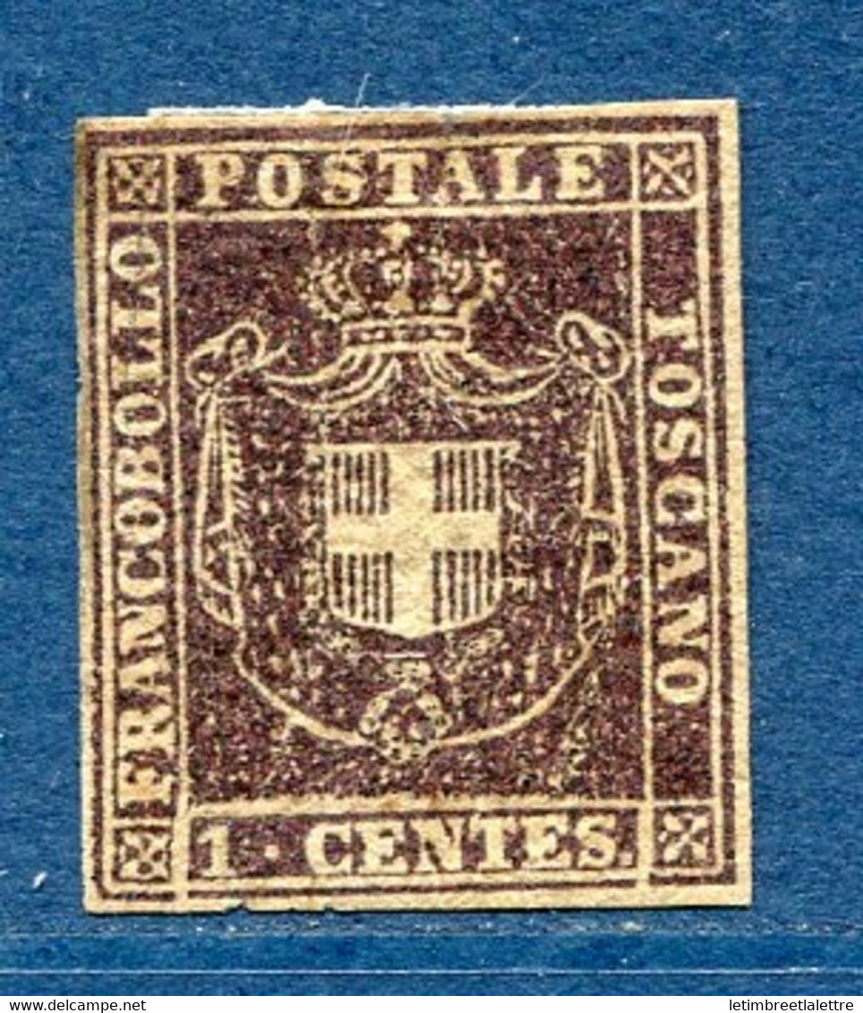 ⭐ Italie - Toscane - YT N* 17 * - Neuf Avec Charnière - Signé - 1860 ⭐ - Toscane