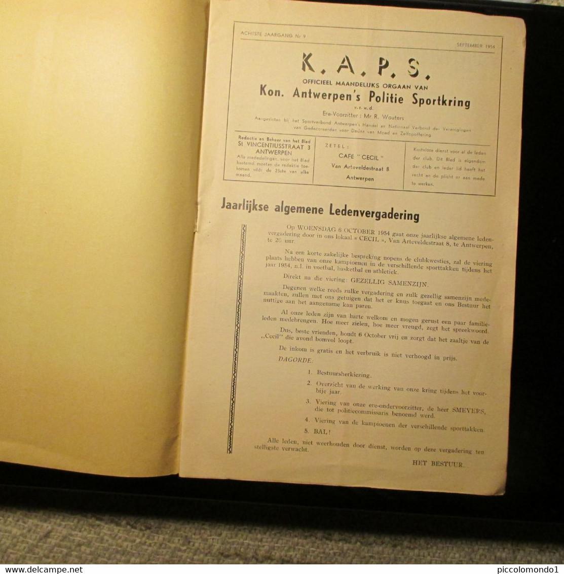 Koninklijke Antwerpen's Politie Sportkring1954 - Practical